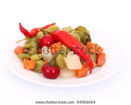 Pickles on white