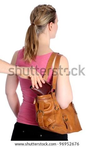 Pickpocketing wallet out of handbag