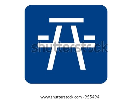 Picnic Area sign isolated on a white background