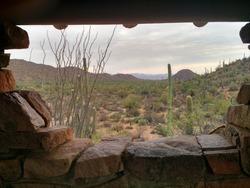 Picnic hut view from Arizona