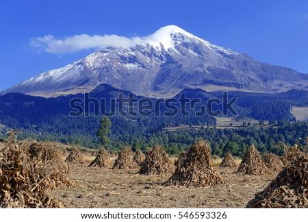 pico de orizaba volcano  or...