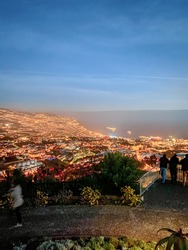 Pico dos Barcelos, New Year's Eve Fireworks in Funchal, Madeira Island, Portugal (by night).