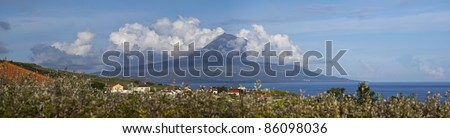 Pico Volcano shot from the island of Faial, Azores