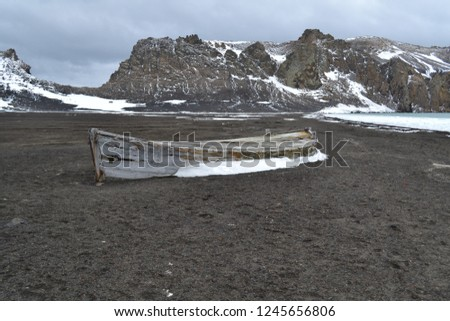 "Pics of Deception Island in Antarctica. This is still an active volcano. British Base A was on this ""island"""