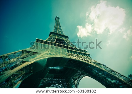 pics of paris - stock photo