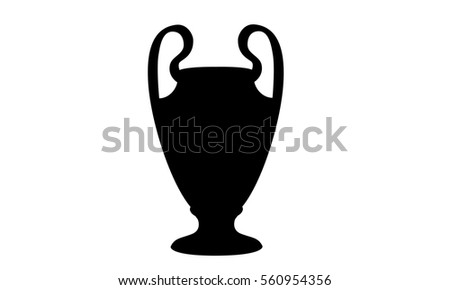 Pictogram - Champions League Trophy - Piktogramm - Pokal, Henkelpott - Icon, Symbol, Object