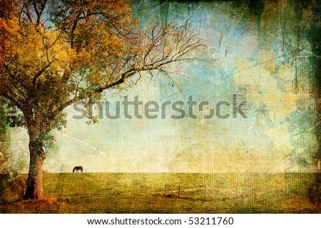 pictorial autumn landscape  ...