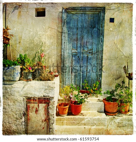 pictorial greek villages