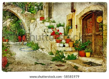 pictorial greek villages  lutra ...