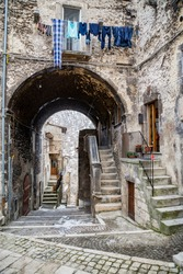 pictorial old streets of Italian villages, Scanno Abruzzi, Italy