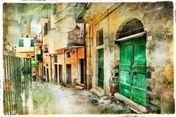 pictorial old streets of Italy, artistic picture