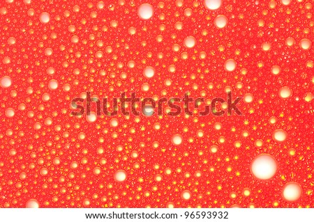 Picture a foam bubble red macro background.
