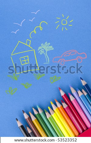 Picture and colour pencils