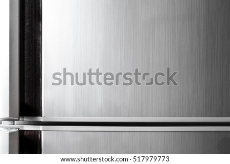 picture black and white Modern refrigerator door with handle, with free space for text