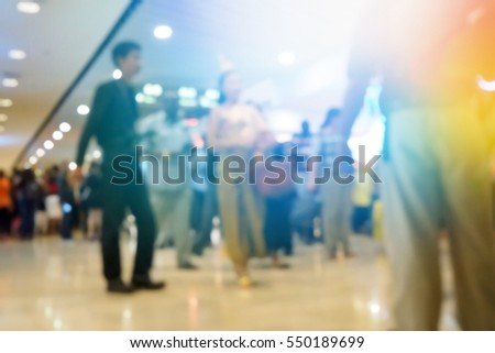 Picture blurred  for background abstract and can be illustration to article of shopping mall - Shutterstock ID 550189699