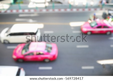 Picture blurred  for background abstract and can be illustration to article of traffic #569728417