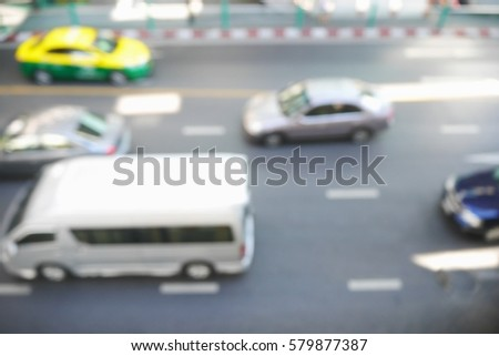 Picture blurred  for background abstract and can be illustration to article of traffic #579877387