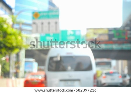 Picture blurred  for background abstract and can be illustration to article of traffic #582097216