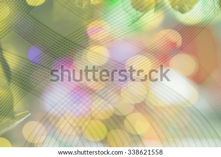 Picture formats and bokeh pattern on wallpaper