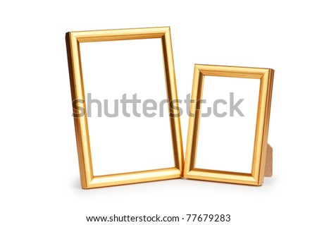 Picture frame isolated on the white background