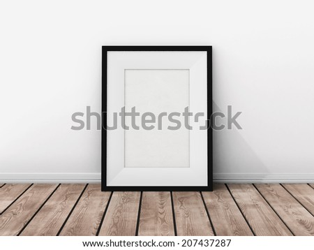 Picture frame on the wall