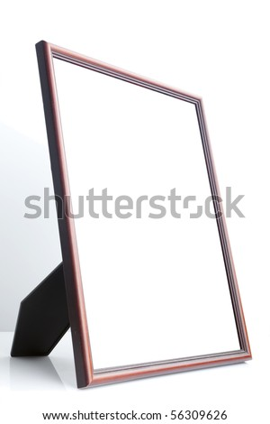 Picture frame (side view) - stock photo