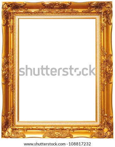 picture frame with clipping path - stock photo