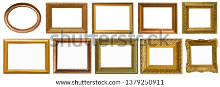 Picture frames collection set isolated on white #1379250911