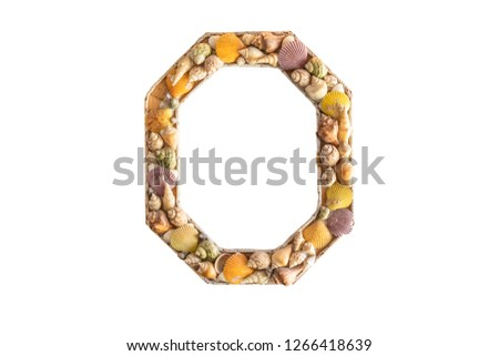 Picture frames made from shells,isolated  on white background with clipping path.