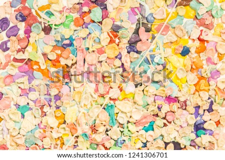 Picture from multicolored bubble gum. Bubble gum texture