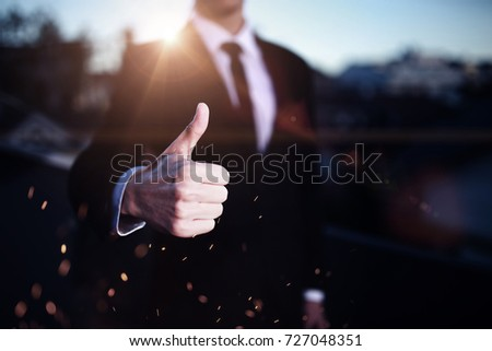 Picture man hands showing OK sign #727048351
