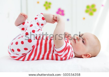 Picture of a beautiful baby at home
