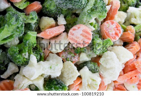Picture of a bunch of mixed frozen vegetables