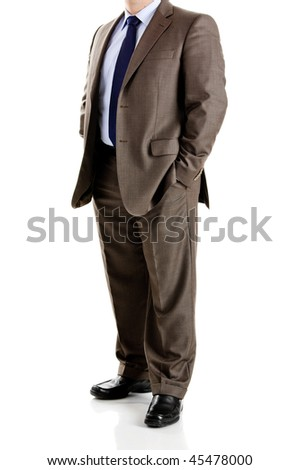 Picture of a business man bofy with a suit and neck necktie