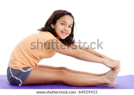 Picture of a child set on white background