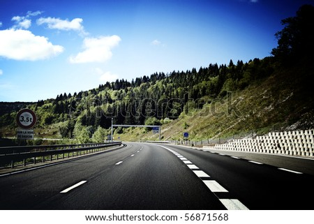 Picture of a empty highway. - stock photo