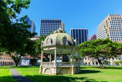 picture of a historic pavilion at the Aliiolani Hale in Honolulu, Oahu, Hawaii