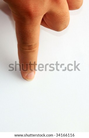 Picture of a Human Hand Pointing with Finger