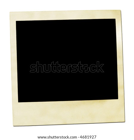 Picture of a instant photos front. Isolated on white. Used look