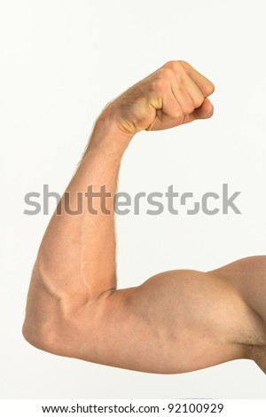 Picture of a muscular arm flexing