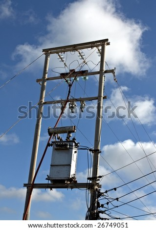 Picture of a step down transfer in the electricity distribution system.