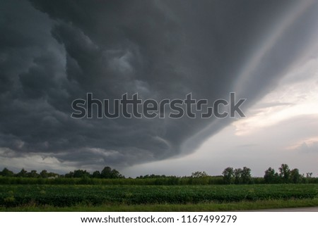picture of a stormy cloud in the province of Treviso Italy