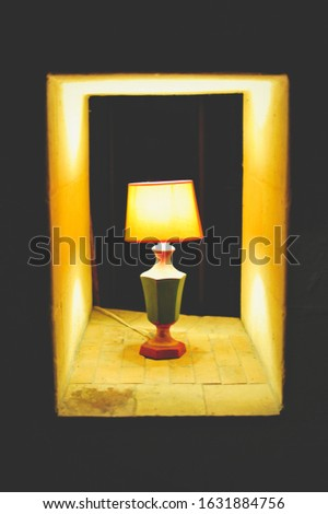 PIcture of a vintage abat jour. Photo stock ©