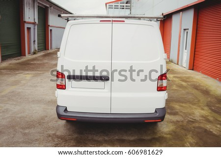 Picture of a white van #606981629