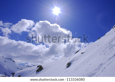 Picture of a winter landscape in Austria