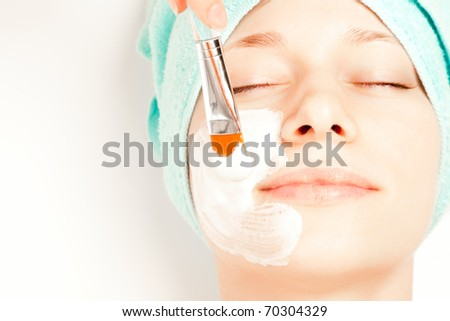 Picture of a woman at spa procedures