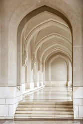 Picture of an archway in Muscat, Oman