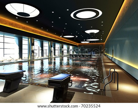 Picture of an indoor swimming pool