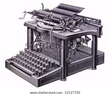 picture of an old typewriter isolated