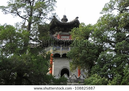 Picture of ancient building at Summer Palace in Beijing,China